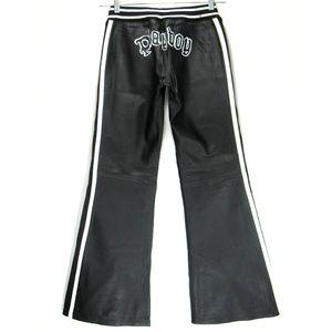NEW Playboy - Leather Pants - Stretch Seams - Sz M